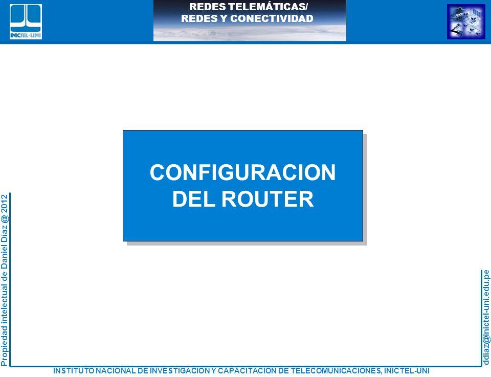 CONFIGURACION DEL ROUTER