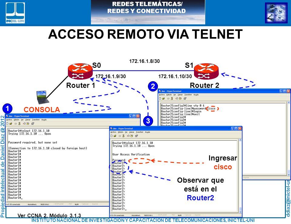 ACCESO REMOTO VIA TELNET