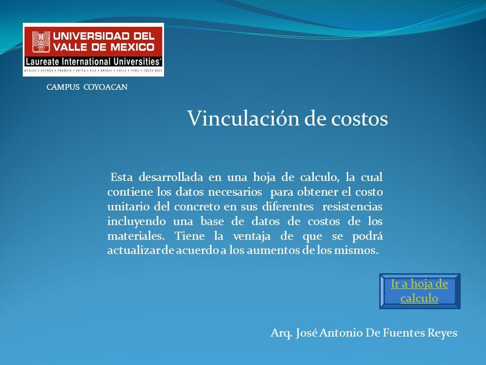 CAMPUS COYOACANVinculación de costos.