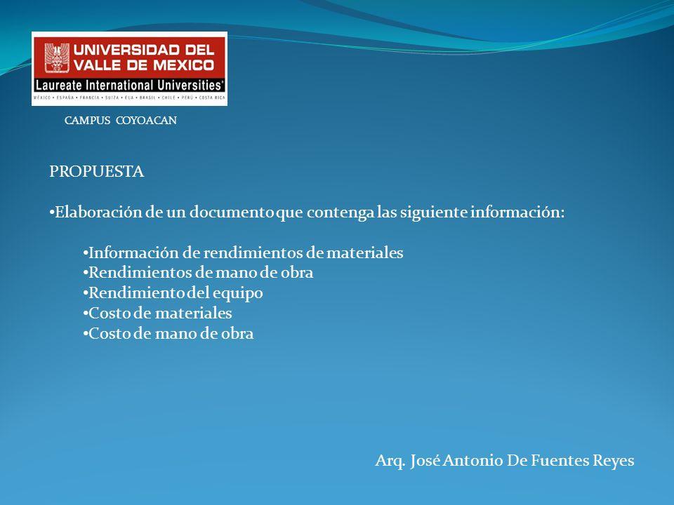 Elaboración de un documento que contenga las siguiente información: