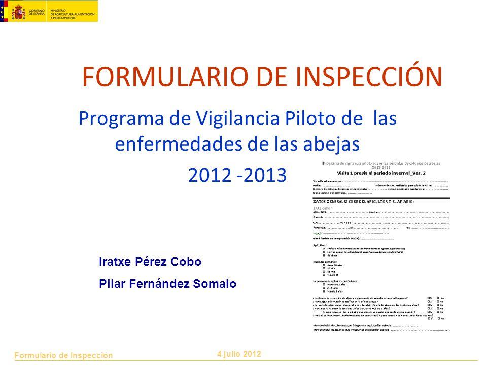 FORMULARIO DE INSPECCIÓN