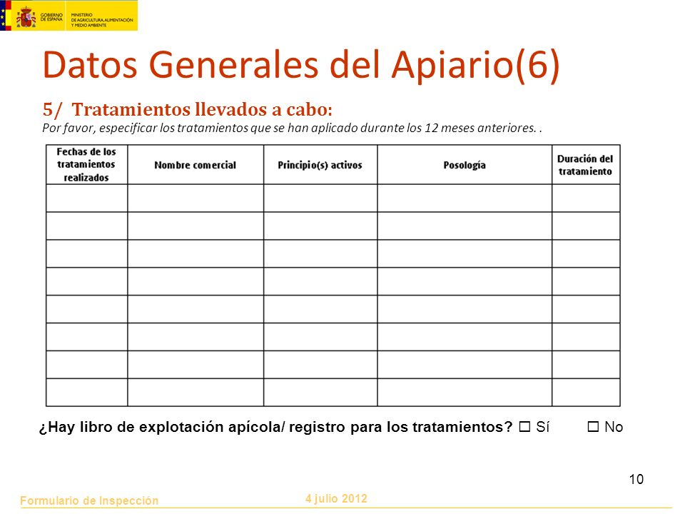 Datos Generales del Apiario(6)