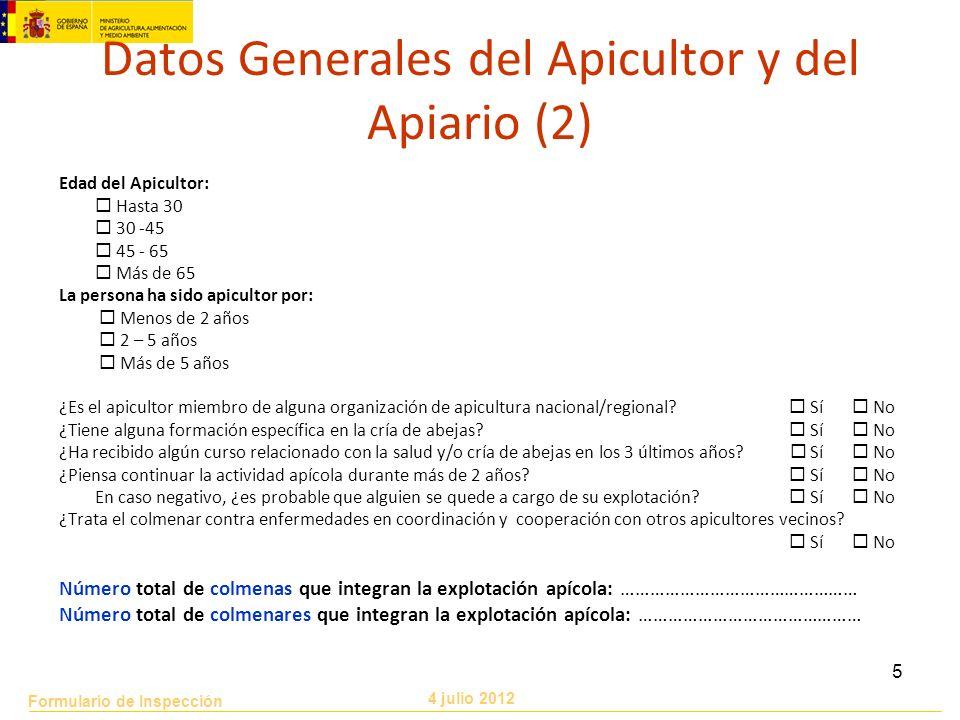 Datos Generales del Apicultor y del Apiario (2)