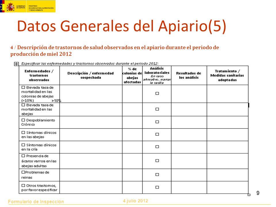 Datos Generales del Apiario(5)