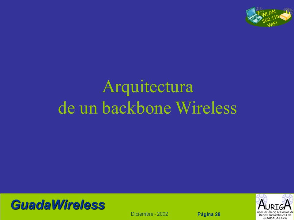 de un backbone Wireless