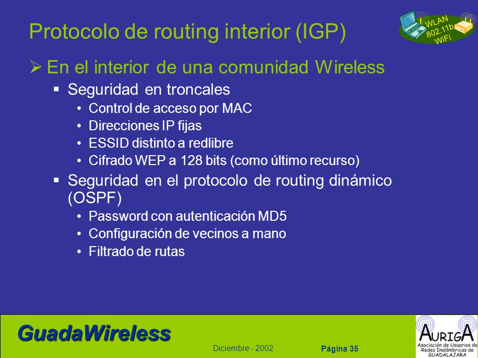 Protocolo de routing interior (IGP)