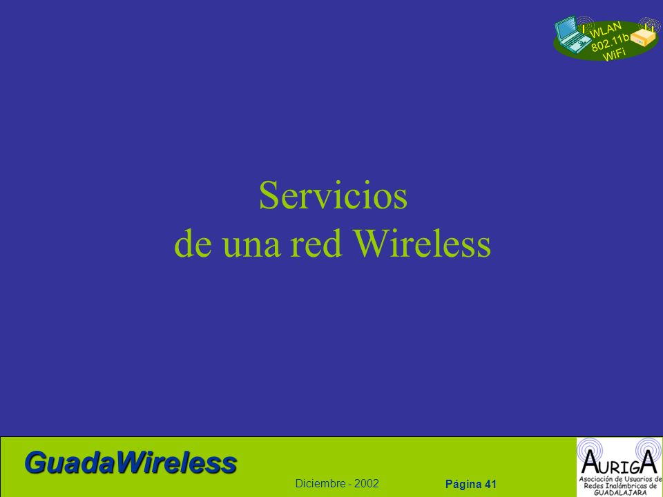 Servicios de una red Wireless