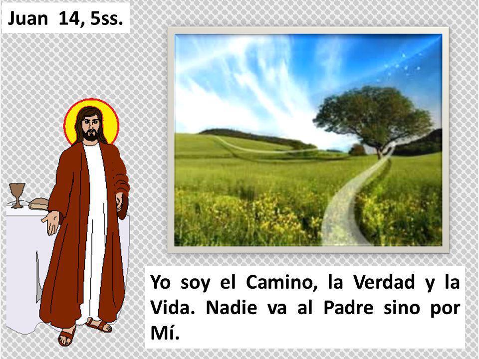 Juan 14, 5ss. Yo soy el Camino, la Verdad y la Vida. Nadie va al Padre sino por Mí.