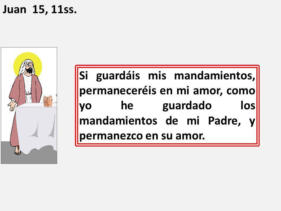 Juan 15, 11ss.