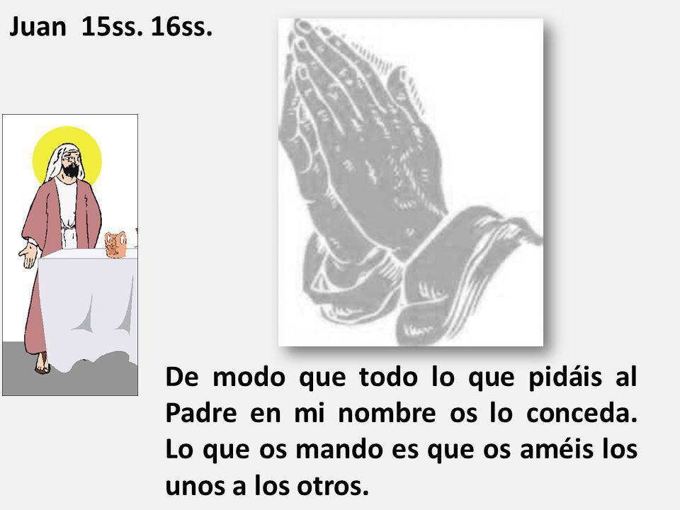 Juan 15ss. 16ss.