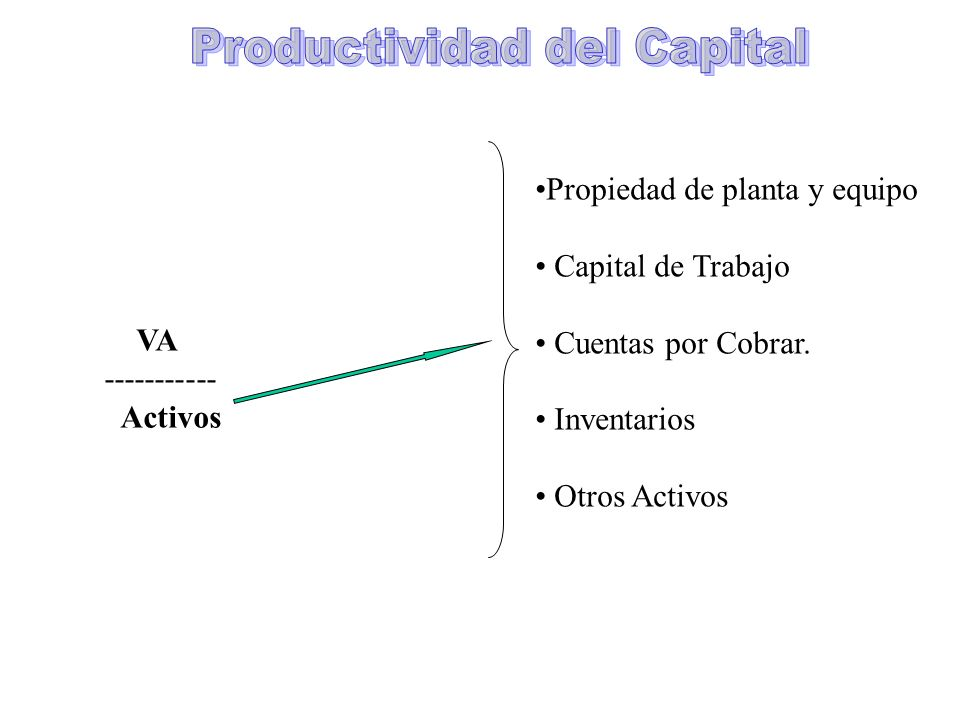 Productividad del Capital