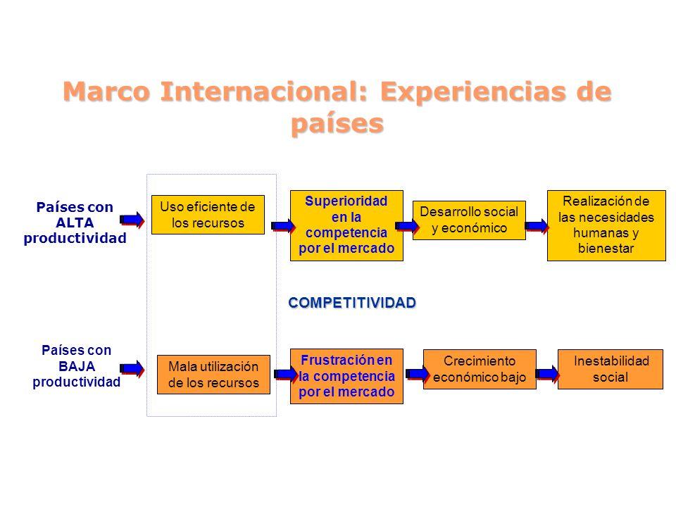 Marco Internacional: Experiencias de países