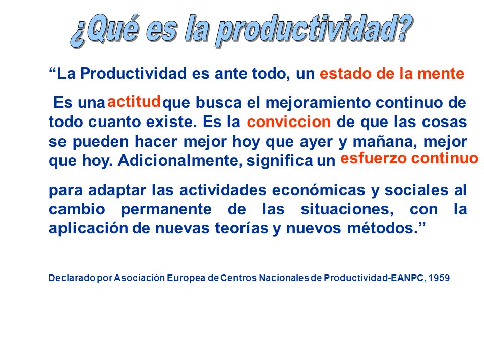 ¿Qué es la productividad