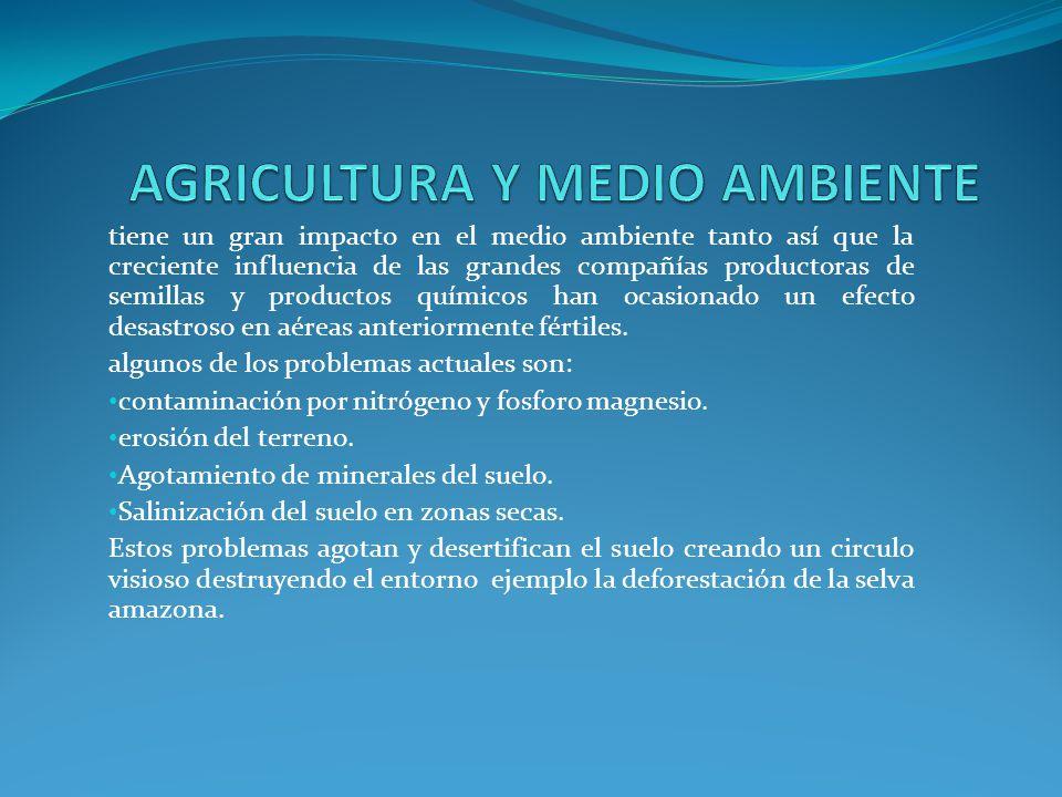AGRICULTURA Y MEDIO AMBIENTE