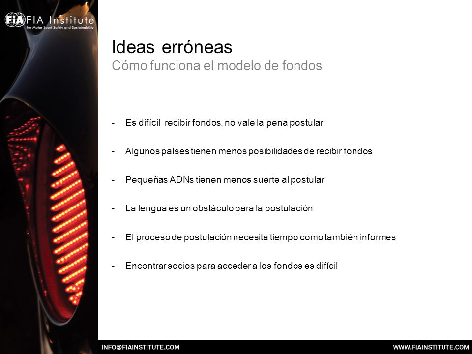 Ideas erróneas Cómo funciona el modelo de fondos