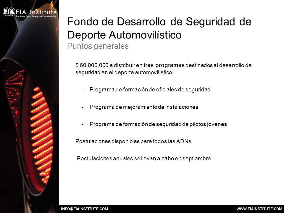 Fondo de Desarrollo de Seguridad de Deporte Automovilístico