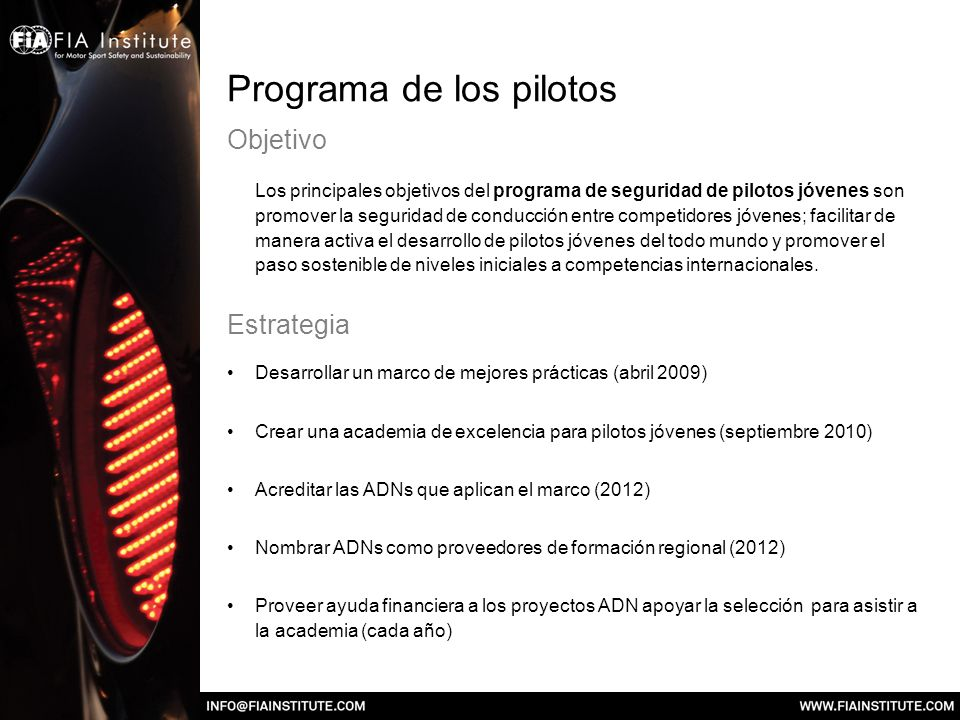 Programa de los pilotos