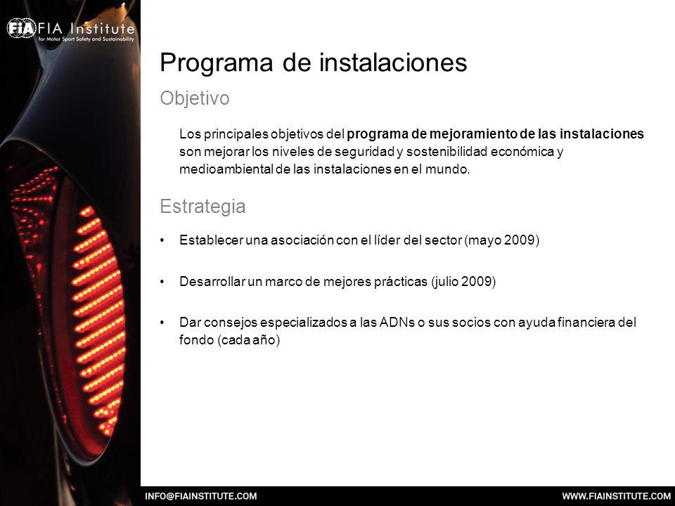 Programa de instalaciones