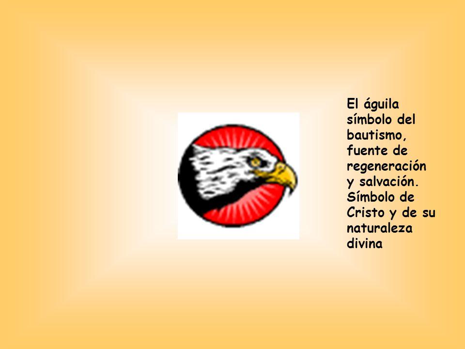 El águila símbolo del bautismo, fuente de regeneración y salvación.