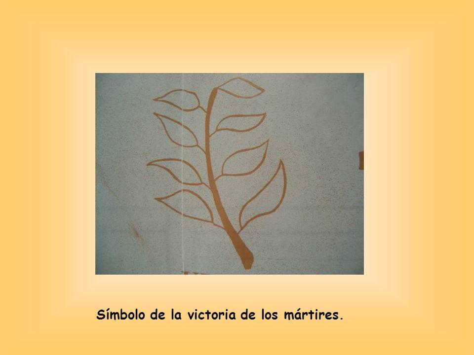 Símbolo de la victoria de los mártires.