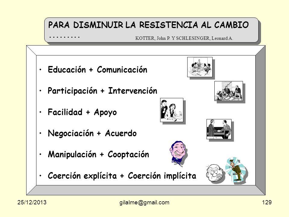 PARA DISMINUIR LA RESISTENCIA AL CAMBIO .........