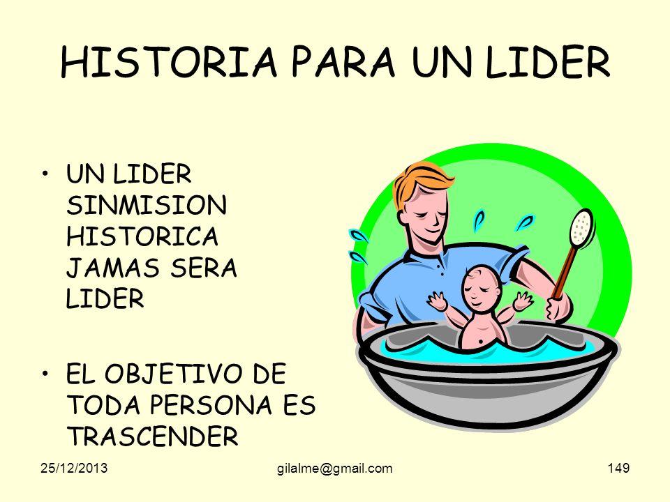 HISTORIA PARA UN LIDER UN LIDER SINMISION HISTORICA JAMAS SERA LIDER