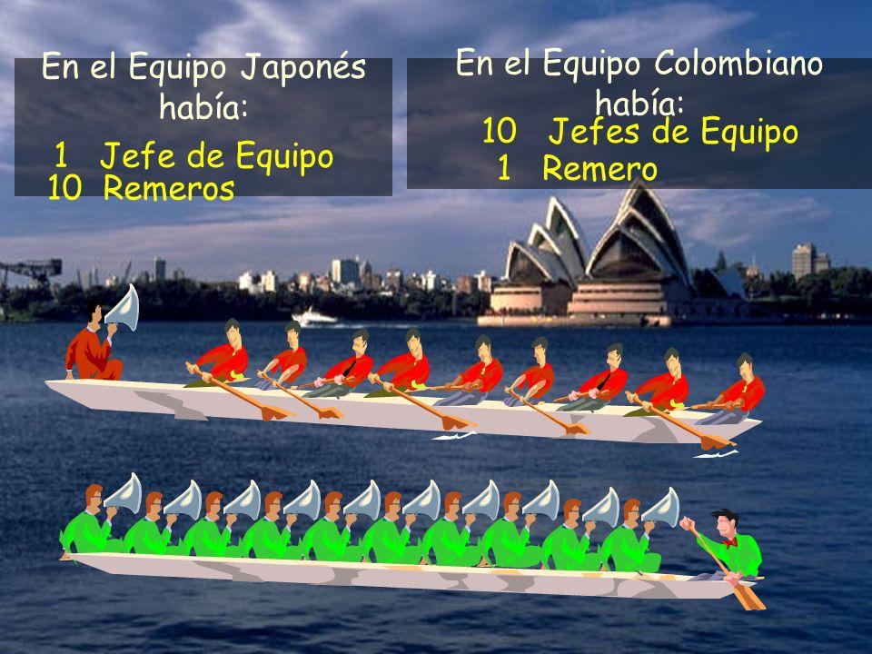 En el Equipo Japonés había: En el Equipo Colombiano había: