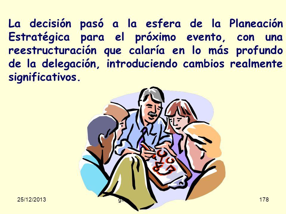 La decisión pasó a la esfera de la Planeación Estratégica para el próximo evento, con una reestructuración que calaría en lo más profundo de la delegación, introduciendo cambios realmente significativos.