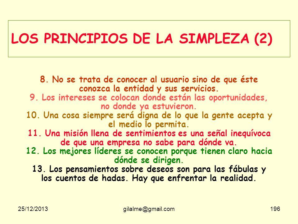 LOS PRINCIPIOS DE LA SIMPLEZA (2)