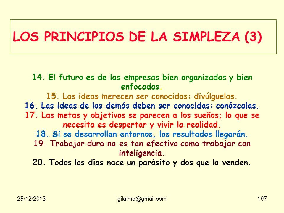 LOS PRINCIPIOS DE LA SIMPLEZA (3)
