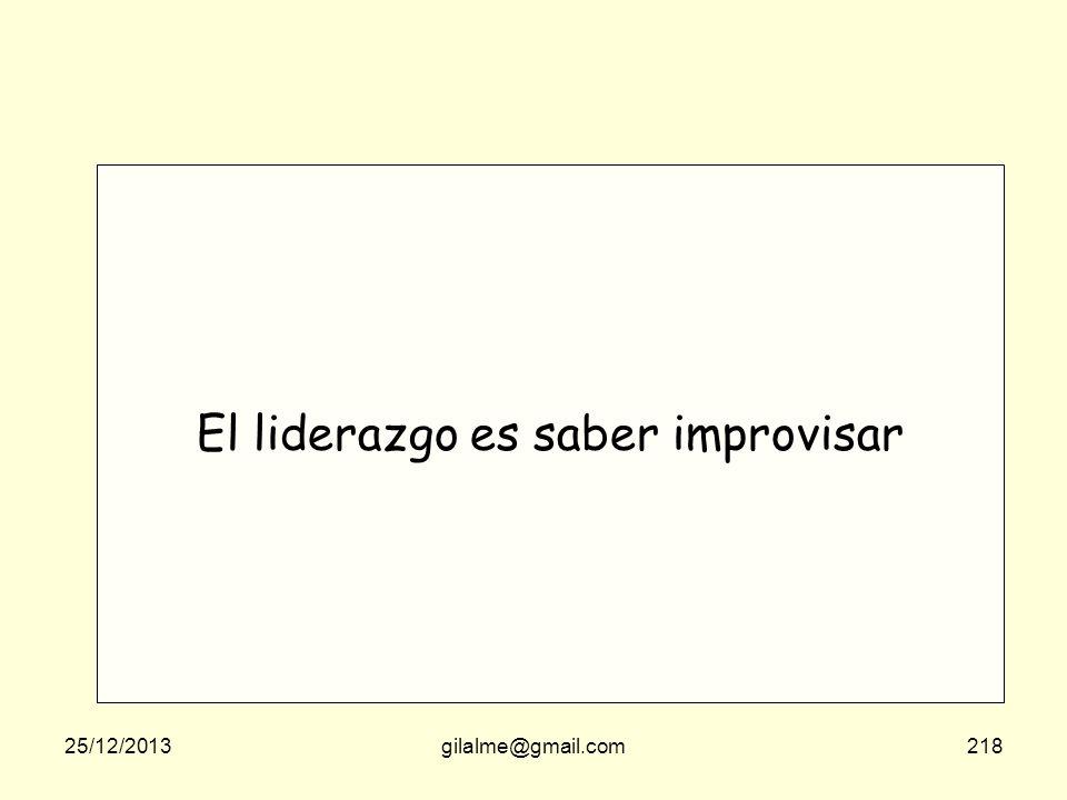 El liderazgo es saber improvisar