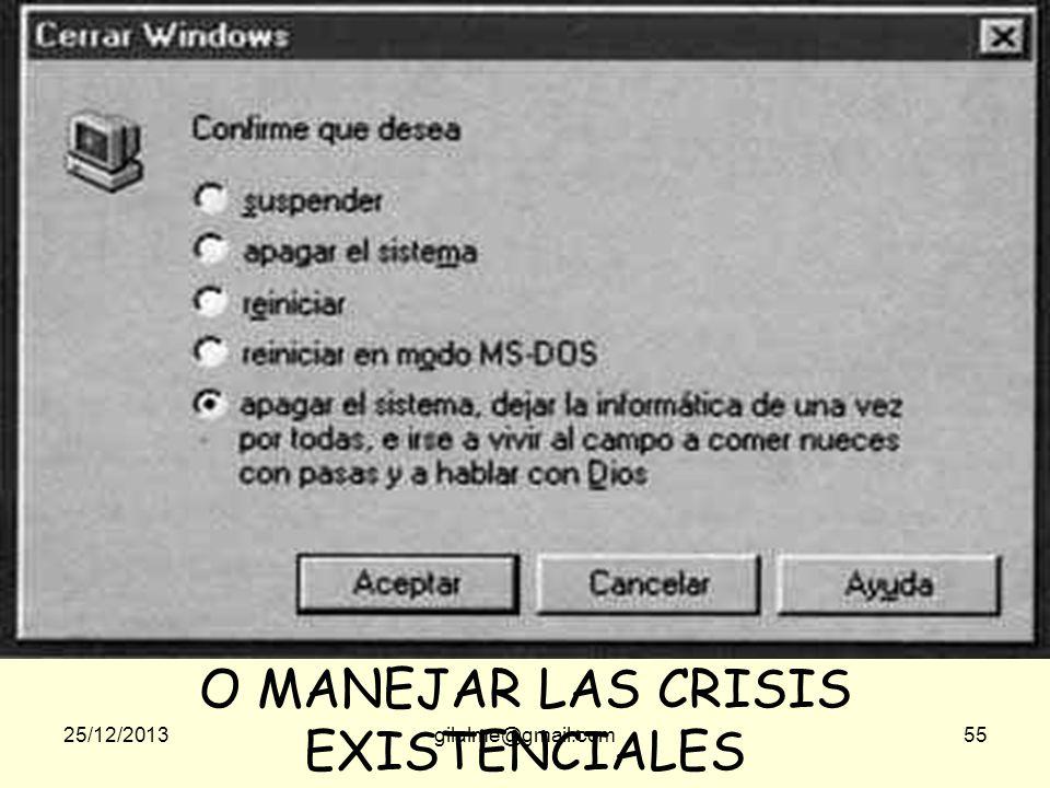 O MANEJAR LAS CRISIS EXISTENCIALES