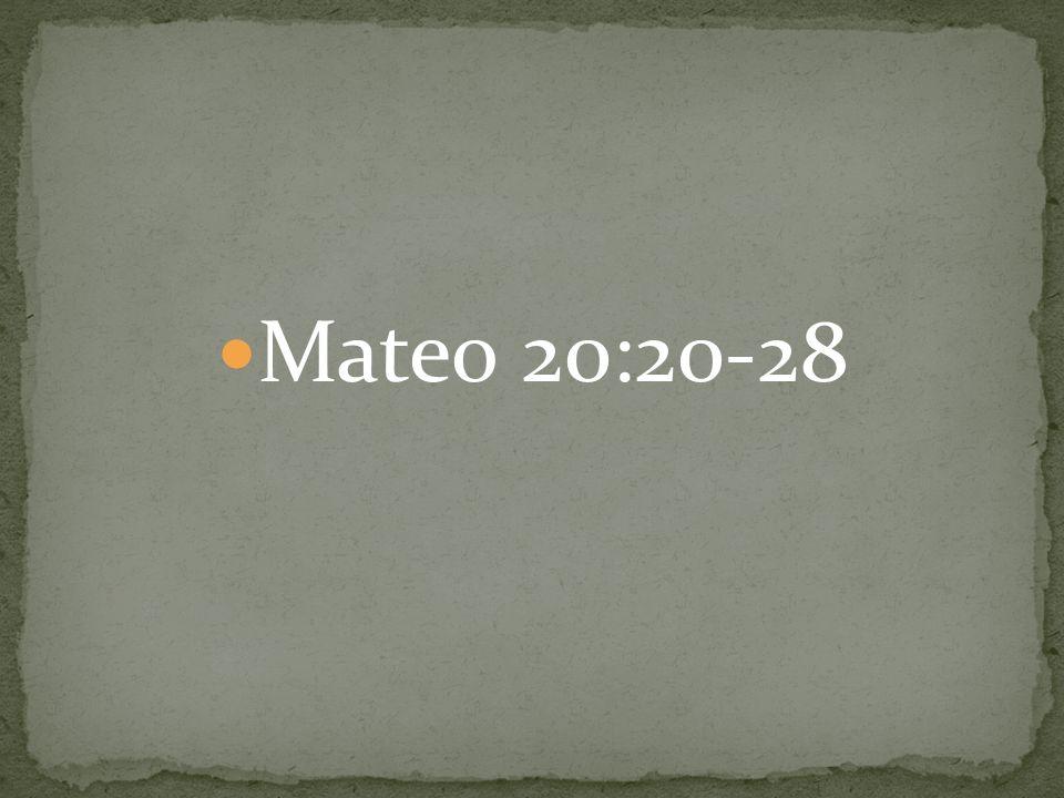 Mateo 20:20-28