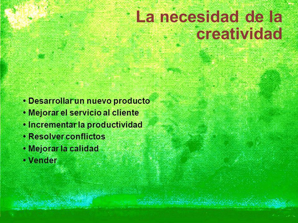 La necesidad de la creatividad
