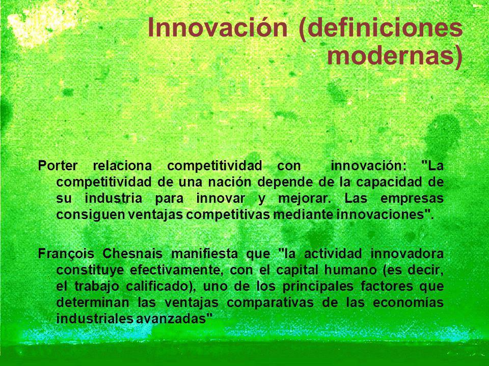 Innovación (definiciones modernas)