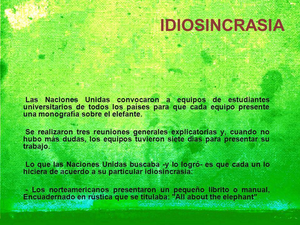 IDIOSINCRASIA