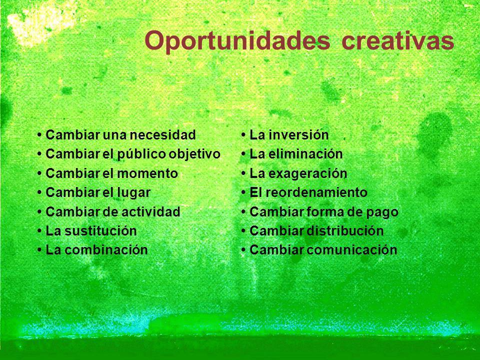 Oportunidades creativas