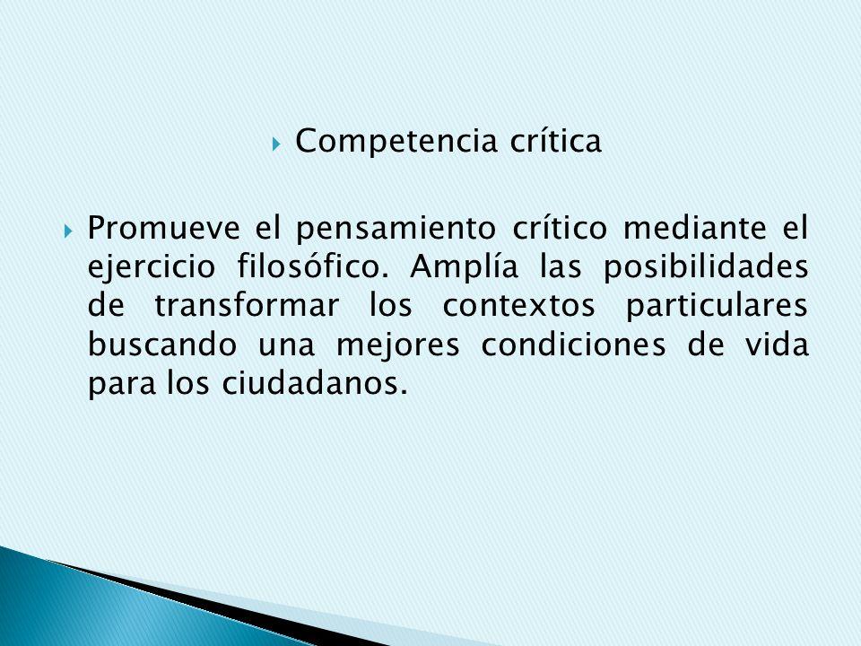 Competencia crítica
