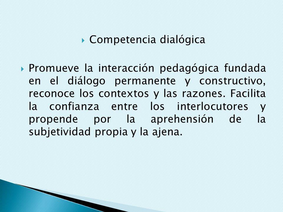 Competencia dialógica