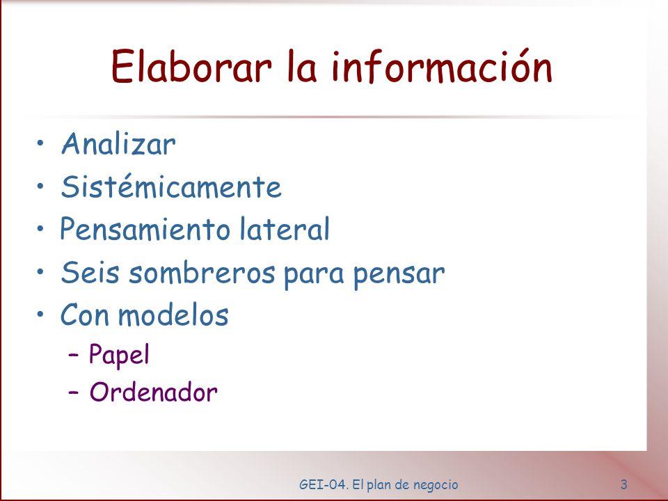 Elaborar la información