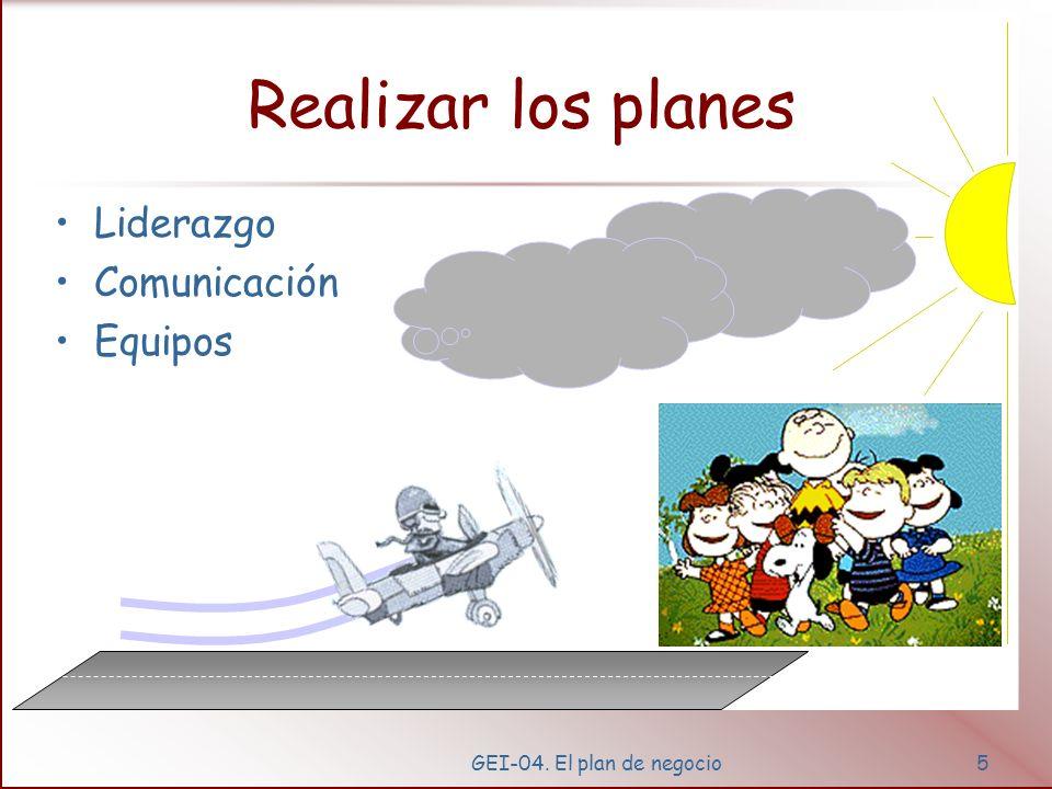 Realizar los planes Liderazgo Comunicación Equipos