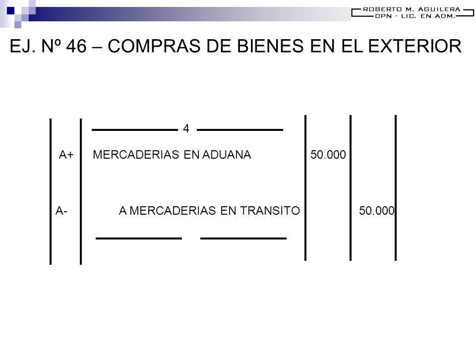 EJ. Nº 46 – COMPRAS DE BIENES EN EL EXTERIOR