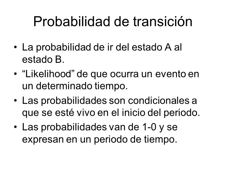 Probabilidad de transición