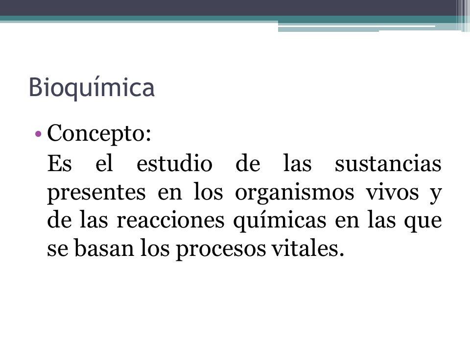 Bioquímica Concepto: