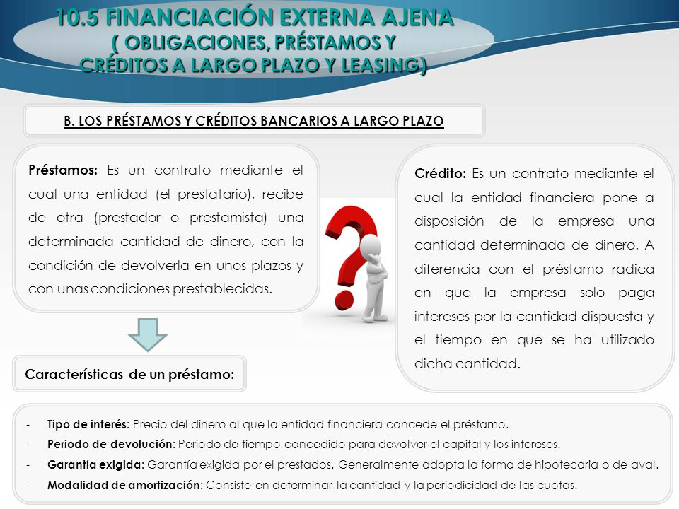 10.5 FINANCIACIÓN EXTERNA AJENA