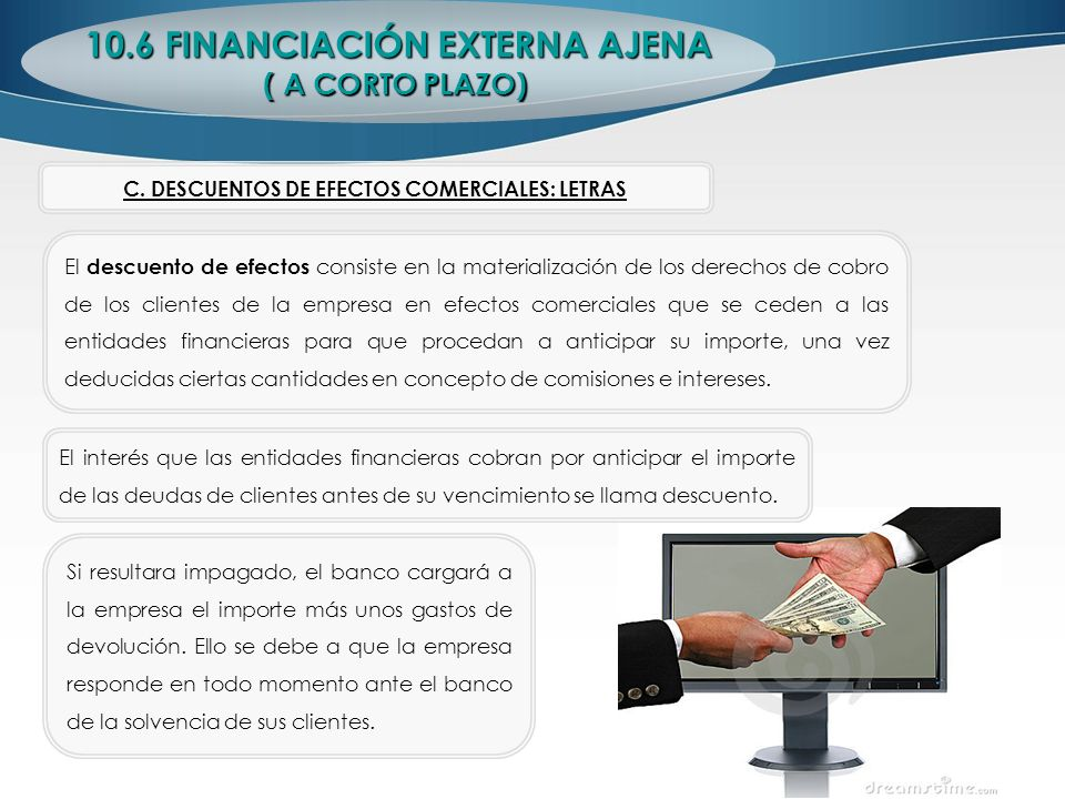 10.6 FINANCIACIÓN EXTERNA AJENA