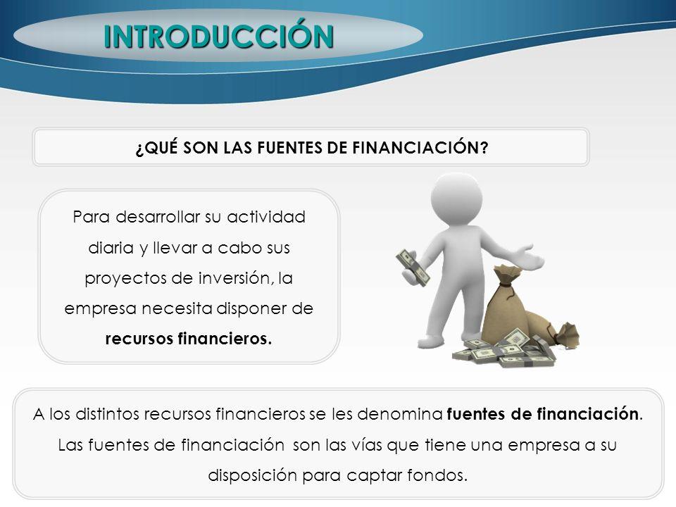 INTRODUCCIÓN ¿QUÉ SON LAS FUENTES DE FINANCIACIÓN