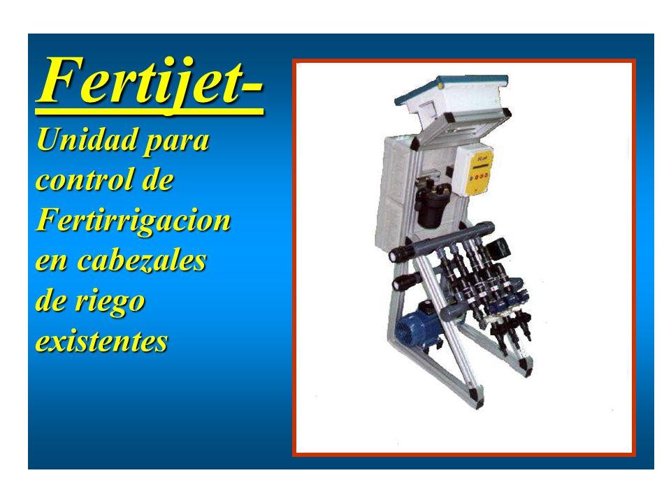 Fertijet- Unidad para control de Fertirrigacion en cabezales de riego
