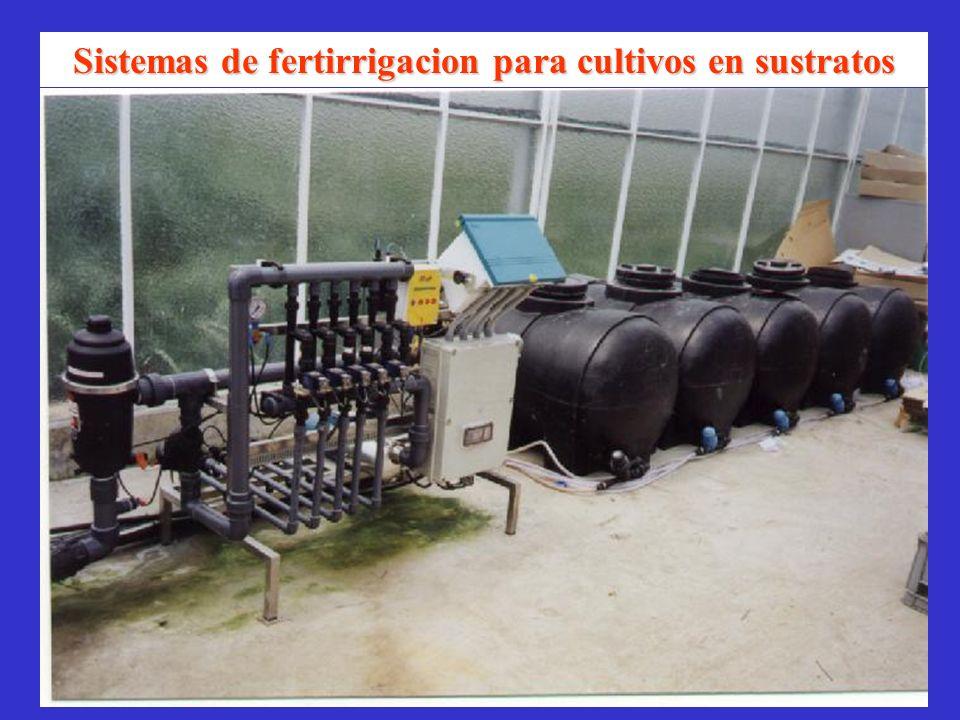 Sistemas de fertirrigacion para cultivos en sustratos