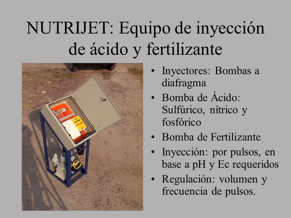NUTRIJET: Equipo de inyección de ácido y fertilizante